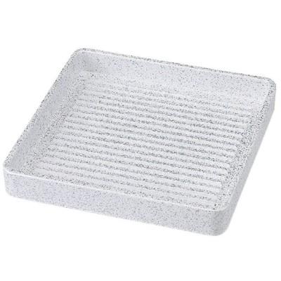 和食器 鍋用盛皿 / 正角肉皿 銀たたき ミニ(14cm) 寸法: 14 x 14 x 4cm