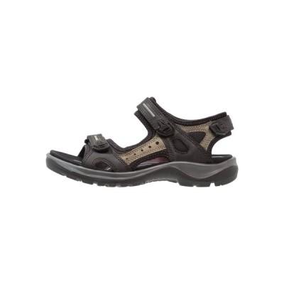 エコー サンダル レディース シューズ OFFROAD - Walking sandals - black