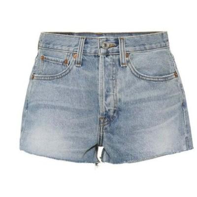 リダン Re/Done レディース ショートパンツ デニム ボトムス・パンツ The Short denim shorts Dirty Destroy