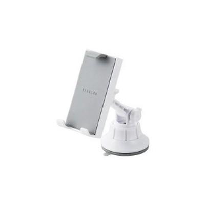 ELECOM P-CARTB01WH 車載アクセサリー スマホ・タブレット対応スタンド ゲル吸盤タイプ ホワイト