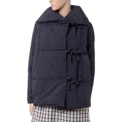 インポートブランド(import brand) Aラインショート丈コート 中わた ブラック