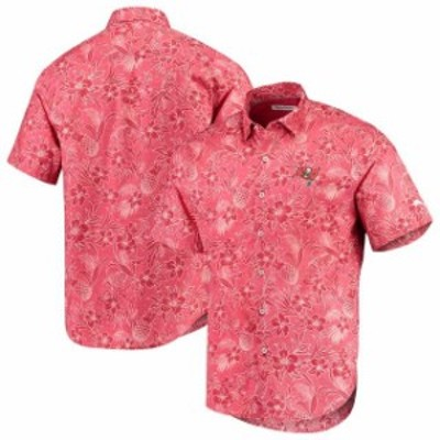 Tommy Bahama トミー バハマ シャツ ポロシャツ Tommy Bahama Tampa Bay Buccaneers Red Tiki Luau Woven Button-Up Shirt