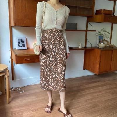 monodaily レディース スカート Lauren Leopard Skirt