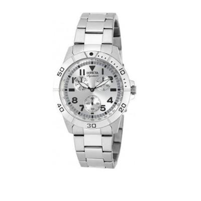 メンズ 腕時計 インヴィクタ New Mens 7078 Signature Silver Dial Casual Everyday Watch