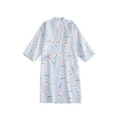 (ケヤカ) Keyaka レディース 浴衣 甚平 寝巻き 花柄 綿 前開き パジャマ レディース 全5柄 ねまき 旅館 お風呂 女性 部屋着 婦人服