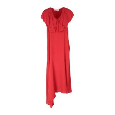 カオス KAOS 7分丈ワンピース・ドレス レッド 40 アセテート 65% / シルク 35% 7分丈ワンピース・ドレス