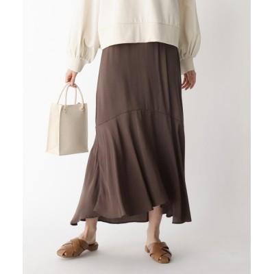 BEAUTE DE OPAQUE(ボーテ ド オペーク) ヴィンテージサテンマーメイドスカート