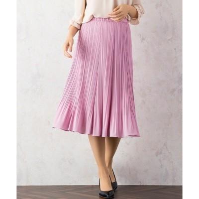 スカート シフォンプリーツスカート
