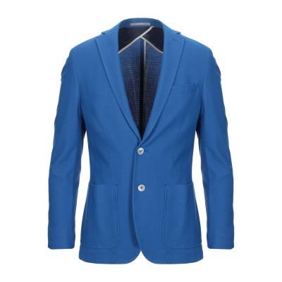 パオローニ PAOLONI テーラードジャケット ブルー 48 コットン 99% / ポリウレタン 1% テーラードジャケット