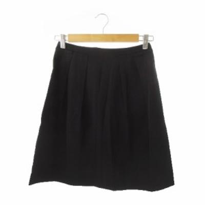 【中古】ボールジー BALLSEY トゥモローランド スカート フレア ミニ タック 36 黒 ブラック /YH10 ☆ レディース
