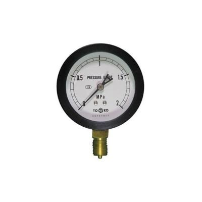 一般圧力計A形Φ75(簡易防滴型) TOKO(東洋計器興業) BL-AT3/8G 75×2MPa(簡易防滴形)