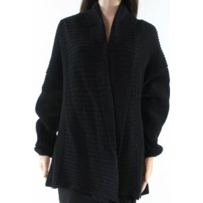 ファッション トップス Trouve NEW Black Womens Size Small S Ribbed Trim Cardigan Sweater