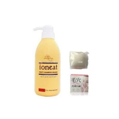 バン イオニート フルーティー シャンプー オレンジ 500ml 、毛穴スッキリ 洗顔石鹸 80g セット販売