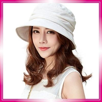 (シッギ)Siggi 花粉対策 紫外線99%カット 女優帽子 ツバ広ハット 取り外すあご紐 折りたたみ
