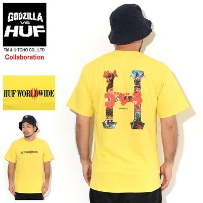 ハフ Tシャツ 半袖 HUF メンズ ゴジラ クラシック H コラボ (HUF×GODZILLA Classic H S/S Tee GODZILLA VS HUF カットソー 男性用 TS01364)