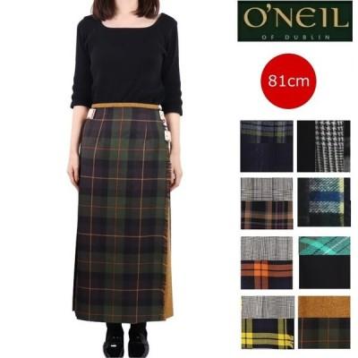(先行予約10月下旬〜) O'NEIL OF DUBLIN (オニールオブダブリン) パッチワーク ロング キルトスカート ウール レディース スカート チェック キルト 12481