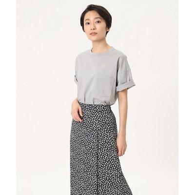 <I.T.'S. INTERNATIONAL(Women)/イッツインターナショナル> ポケット付きTシャツ ブルーグレー【三越伊勢丹/公式】