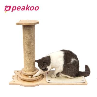 PEAKOO 猫爪とぎスタンド 爪とぎ 爪磨き つめとぎ おもちゃ 据え置き  キャットツリー ストレス解消 つめとぎ おしゃれ 木製