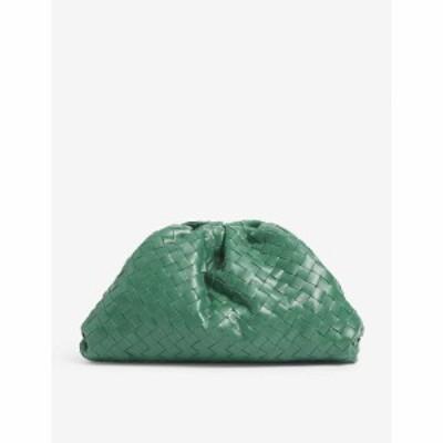 ボッテガ ヴェネタ BOTTEGA VENETA レディース クラッチバッグ バッグ The Pouch Intrecciato woven leather clutch bag Racing Green-go