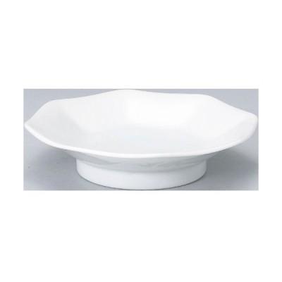 【白中華 八角高台皿 10枚入】【業務用】