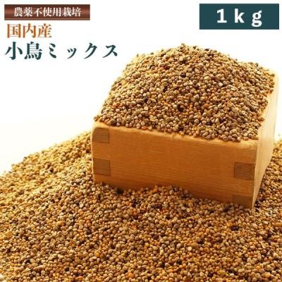 CAP! 小鳥の餌 国内産 小鳥ミックス 1kg【農薬不使用雑穀オリジナルブレンド】