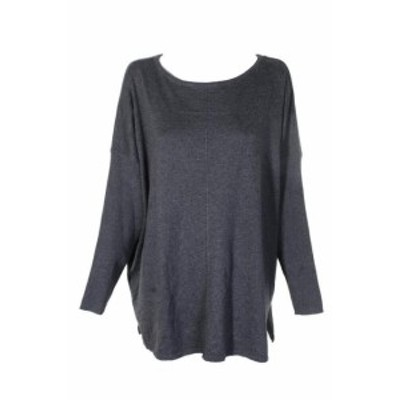 HEATHER  ファッション トップス Style&Co Plus Size Charcoal Heather Seamed Boat-Neck Dolman Sleeve Sweater 2X