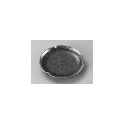 黒ちらし渕銀巻6.0三つ押丸皿 22408-469