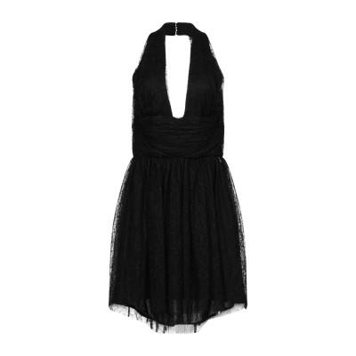 BETTY BLUE ミニワンピース&ドレス ブラック 46 ナイロン 100% ミニワンピース&ドレス