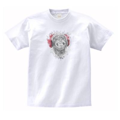 ヘッドフォンサル 動物・生き物 Tシャツ