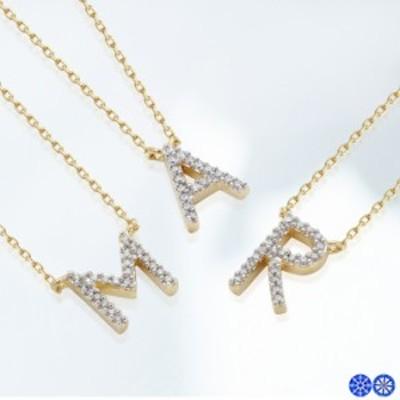 《 11デザイン 》 H&C パヴェ イニシャル ネックレス (レディース 誕生日プレゼント プレゼント 女性 リボン キュービックジルコニア ゴ