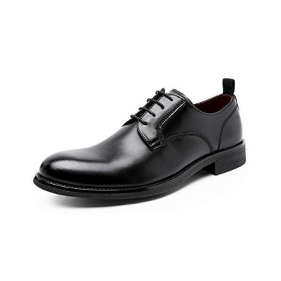 DESAI Dolcara ビジネスシューズ 本革 メンズ 紳士靴 防水 防滑 革靴 24.0-27.0cm(24.5CM ブラック)