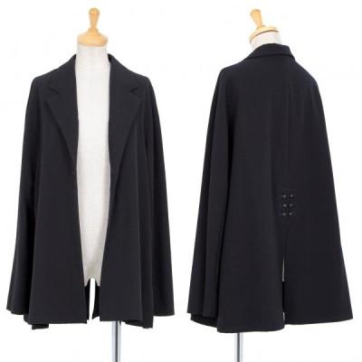 ヨウジヤマモト ファムYohji Yamamoto FEMME ウールギャバボタンデザインジャケット 紺S 【レディース】