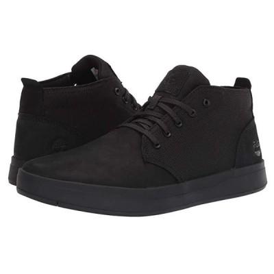ティンバーランド Davis Square Leather and Fabric Chukka メンズ スニーカー 靴 シューズ Black Nubuck/Black