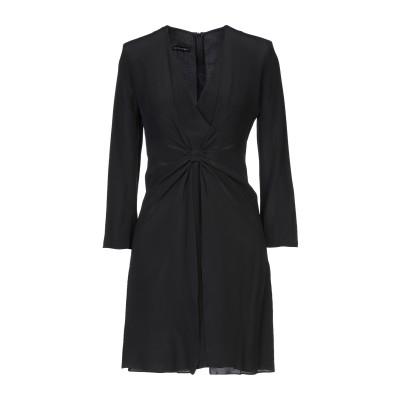 エンポリオ アルマーニ EMPORIO ARMANI ミニワンピース&ドレス ブラック 36 シルク(マルベリーシルク) 100% ミニワンピース&