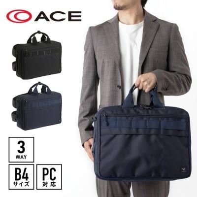 ビジネスバッグ メンズ エース ace. ポリアス 3WAYバッグ 18リットル B4サイズ PC収納 セットアップ機能付き AE-57756