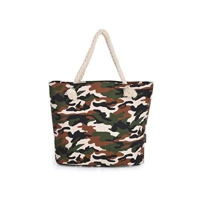Premium Camouflage Canvas Tote Shoulder Bag Handbag並行輸入品 送料無料