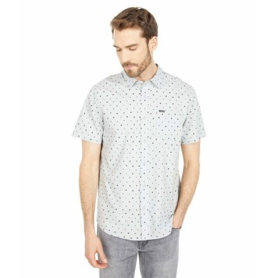 ボルコム シャツ トップス メンズ Hallock Short Sleeve Shirt Tower Grey