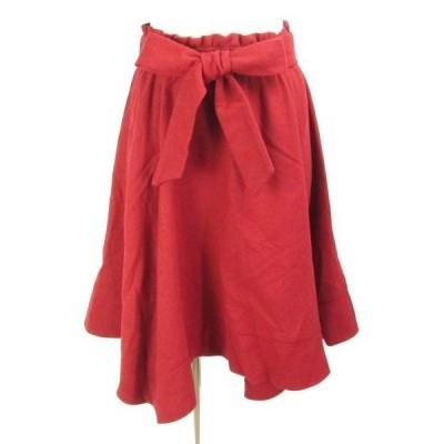 クイーンズコート QUEENS COURT 赤 ヘムスカート 2