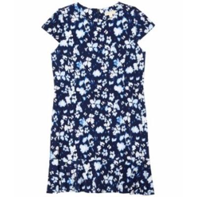 マイケルコース レディース ワンピース トップス Plus Size Poppy Flounce Seamed Dress True Navy