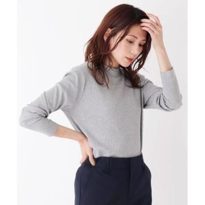 【M-LL】テレコハイネックTシャツ