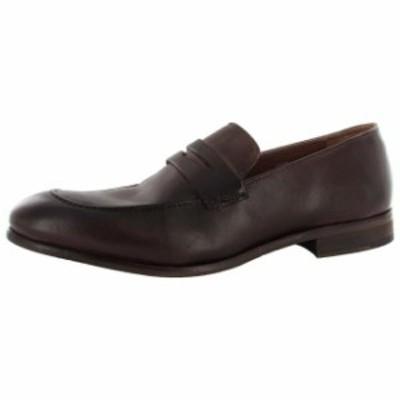 On オン ファッション シューズ Donald j. pliner men zan-d9 leather slip on loafers brown us 11.5