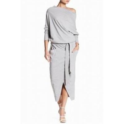 ファッション ドレス Andrea Crocetta NEW Gray Womens Size Small S Off-Shoulder Sheath Dress #155