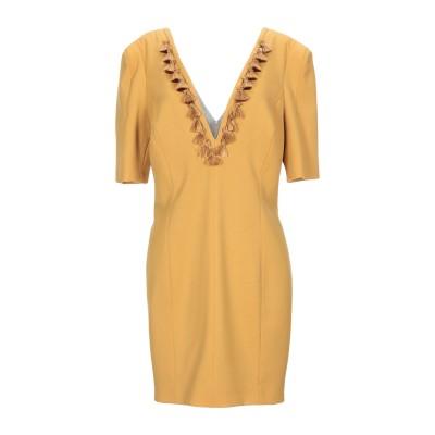 MANGANO ミニワンピース&ドレス キャメル 44 ポリエステル 53% / バージンウール 43% / ポリウレタン 4% ミニワンピース&ド