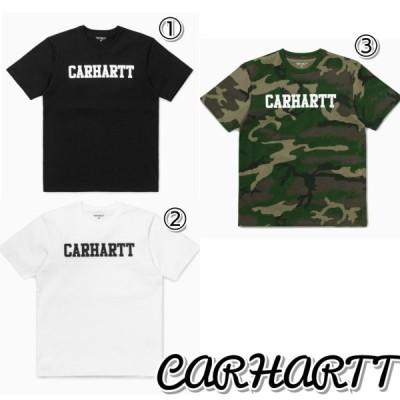 CARHARTT カーハート カレッジ Tシャツ 黒 白 カモフラ メンズ