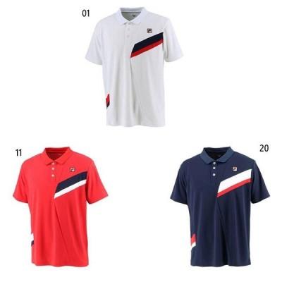 フィラ メンズ ゲームポロシャツ テニス バドミントンウェア トップス 半袖 吸水速乾 UVカット VM5533