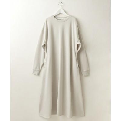 ゆるっとラクちん♪あったか裏起毛ロングワンピース(Aラインフレアシルエット) (ワンピース)Dress