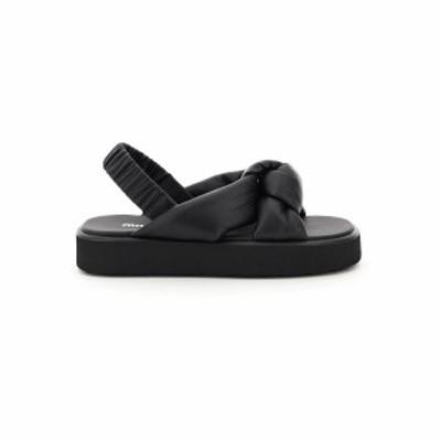 MIU MIU/ミュウ ミュウ サンダル NERO Miu miu padded nappa sandals レディース 春夏2021 5X452D LZK ik