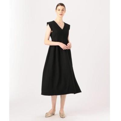 TOMORROWLAND / トゥモローランド BAUME The Black Contemporary Vカットパネルドレス