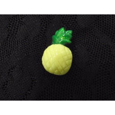 ホビーボタン 005 フルーツ 01(パイナップル) 果物 ワンポイント マーク 印
