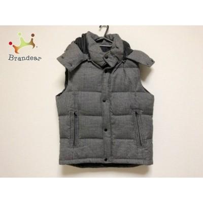 コレクティブ ダウンコート サイズ4 XL レディース 美品 黒×グレー ジップアップ/千鳥格子/冬物   スペシャル特価 20210217